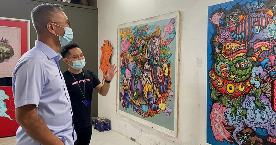 馬來西亞財政部長Tengku Zafrul 參訪 Shafiq Nordin 工作室