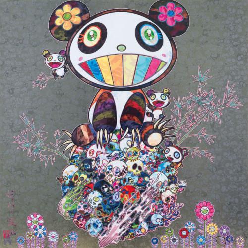 I Met a Panda Family:silver 2013 50 x 50 cm Offset lithograph