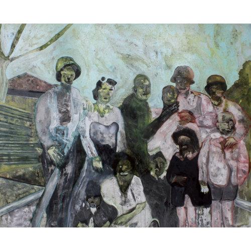 Cheuveux volages / Diable corps  2015 160 x 200 cm Huile sur toile et caseine