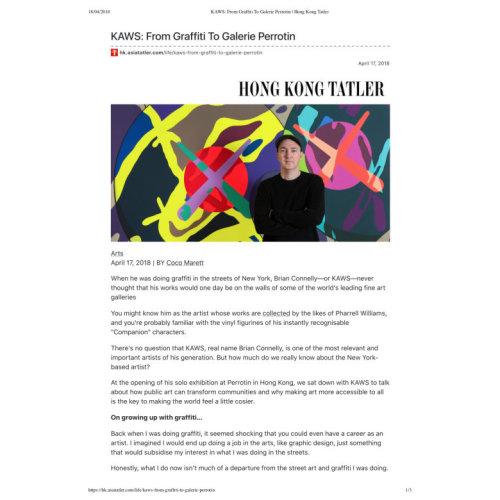 KAWS:From Graffiti To Galerie Perrotin|Hong Kong Tatler