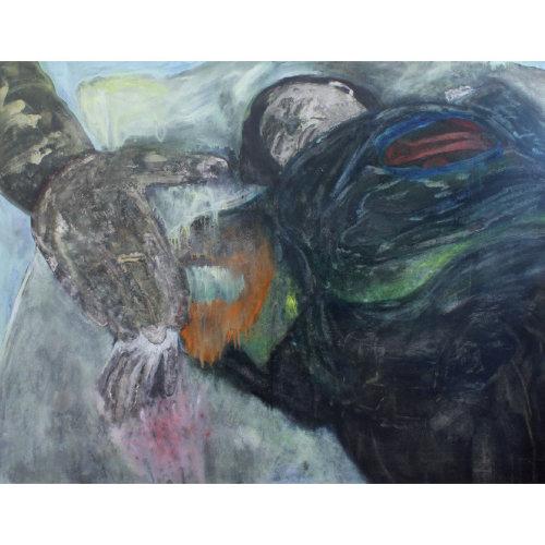 Fait divers  2015 130 x 160 cm Huile sur toile et caseine
