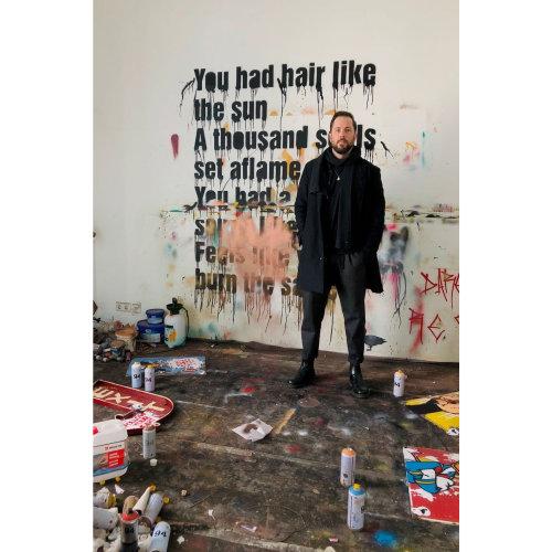 Van Ray's studio and artworks