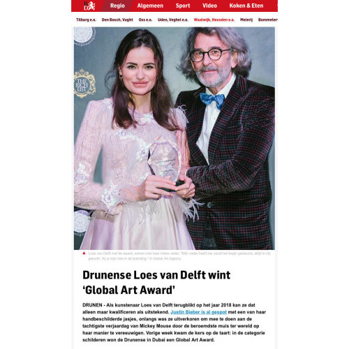 Loes van Delft won 1st WINNER PAINTING CATEGORY of The Global Art Awards.