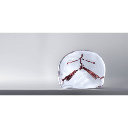 Le marcheur de 1291  W 21.5 x H17.5 x D4.5 2018 Bronze Glass