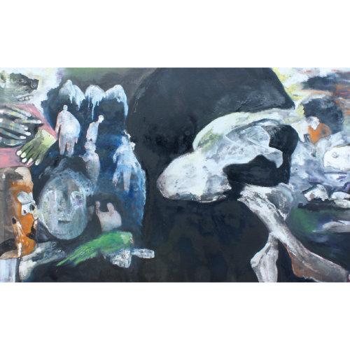 Fait divers#2  2015 130 x 160 cm Huile sur toile et caseine