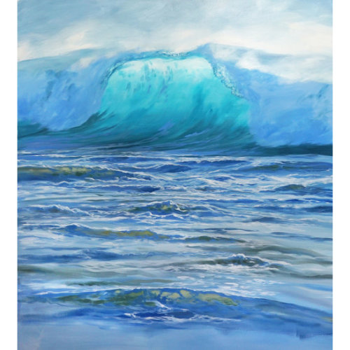 The Wave III 2018 124 x 120 cm Acrylic on canvas