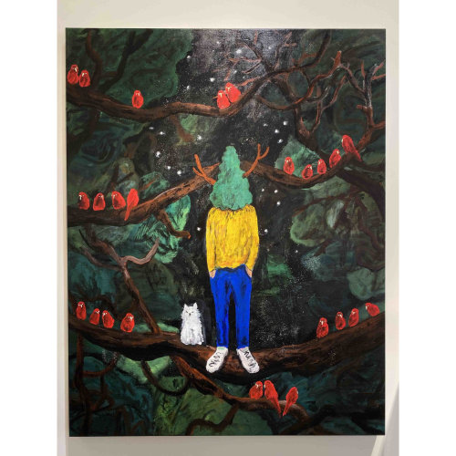 Green Master 61  2020 116.7 x 91 cm Acrylic on canvas