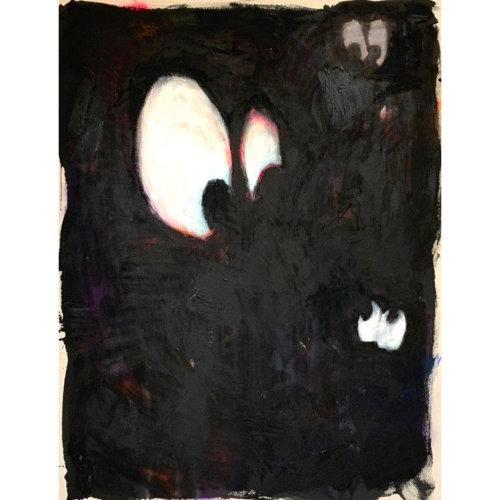 One's Eyes No.11  2021  Acrylic, Aerosol, Oil, Oilstick on Canvas H116.7 x  W91 cm