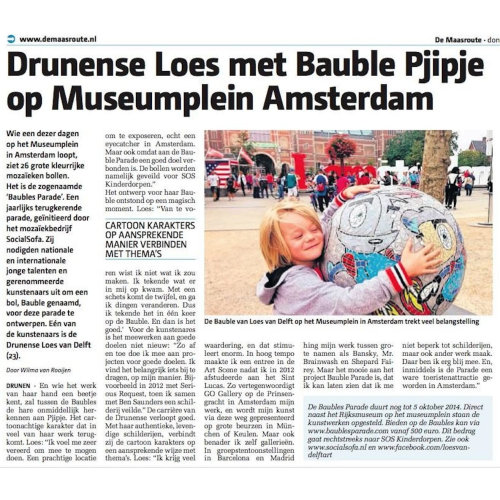 Press|Bauble in front of Rijksmuseum, Museumsquare Amsterdam