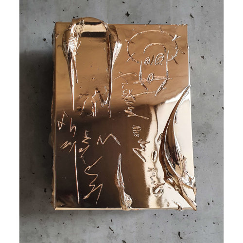 More Real than Reality  2021 41 x 31 x 5 cm Wood, aluminum, resin, chrome plated