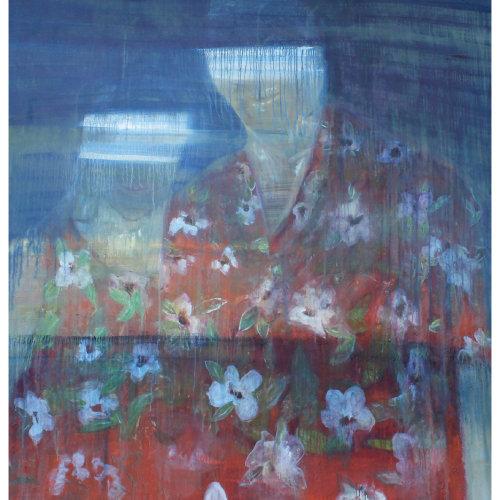 Donald et sa femme  2015 200 x 200 cm Huile sur toile et caseine