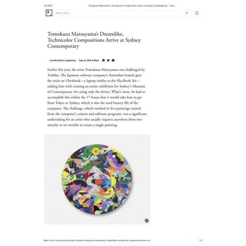 Tomokazu Matsuyama's Technicolor Compositions Arrive at Sydney Contemporary - Artsy