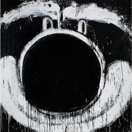 The Other Lenny  2015 203.2 x 203.2 cm Enamel on Canvas