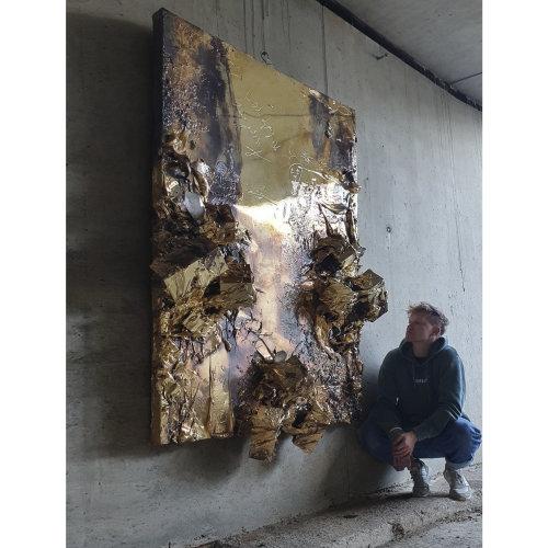 Igor DOBROWOLSKI big metal relief