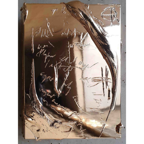 Everything Will Change Everything  2021 41 x 31 x 5 cm Wood, aluminum, resin, chrome plated