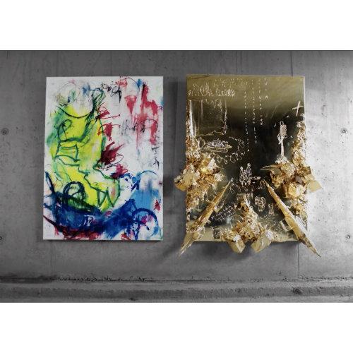 The latest gold mirror and kids series artworks by Igor Dobrowolski
