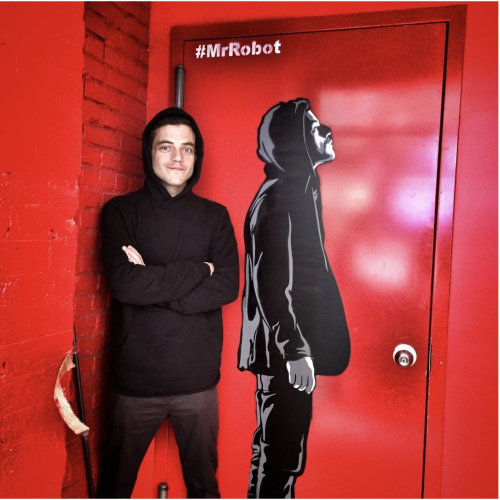 NYC street level campaign for Mr Robot Television series starring Rami Malek. Collaboration with Logan Hicks. Commissioned by USA Network.
