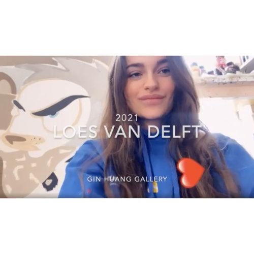 Dutch artist Loes van Delft greets to everyone