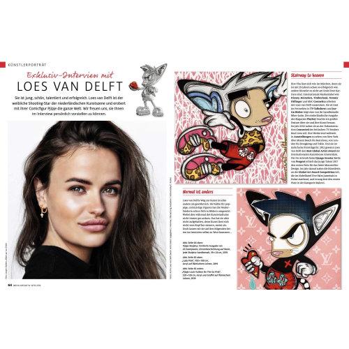 Mein Kreativ-Atelier - Kunstlerportrat Loes van Delft Article Germany 2020