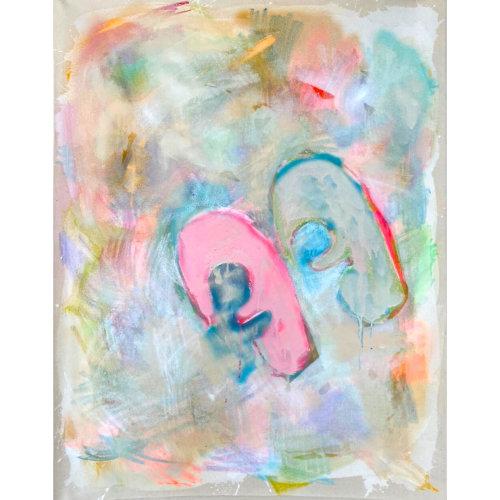 One's Eyes No.13  2021  Acrylic, Aerosol, Oil, Oilstick on Canvas H116.7 x  W91 cm