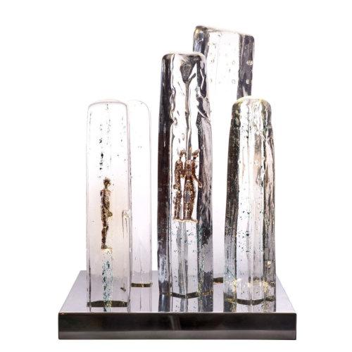 Vertical Utopia  W 36 x H49 x D36  2018 Bronze Glass