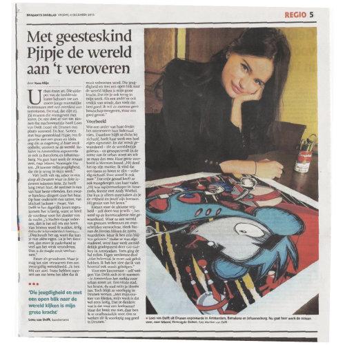Article in Dutch newspaper