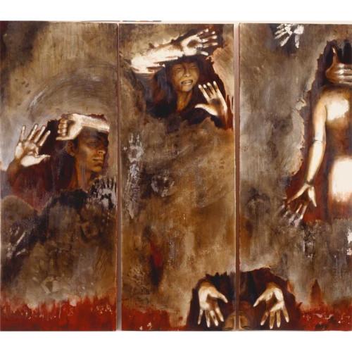 Incommunicabilita Bilite 2005 180 x 160 cm Oil and lacquer on canvas