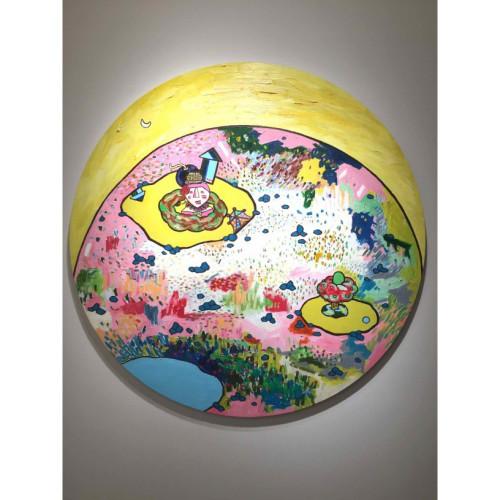 Celebrate The Born On Moon 2013  100 cm Oil on Canvas