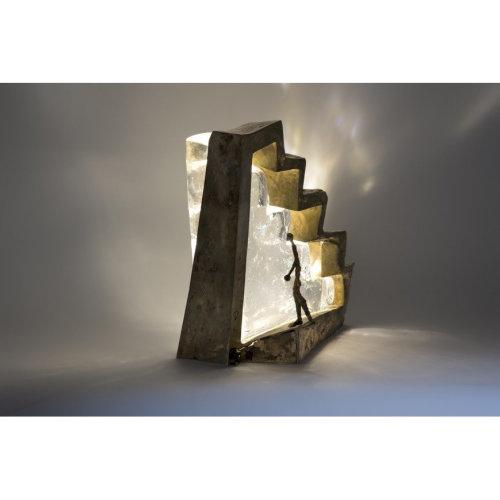The Story Teller   L26 x D 15 x H 29.5 2016 Glass Bronze Light