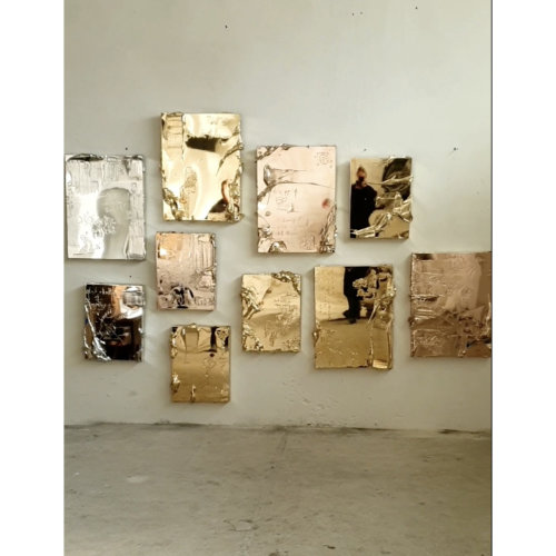 Igor Dobrowolski's artworks in studio