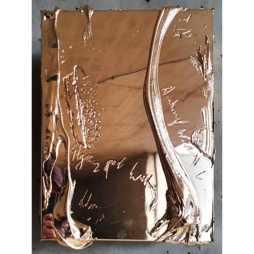 Changes from the Bottom  2021 41 x 31 x 5 cm Wood, aluminum, resin, chrome plated