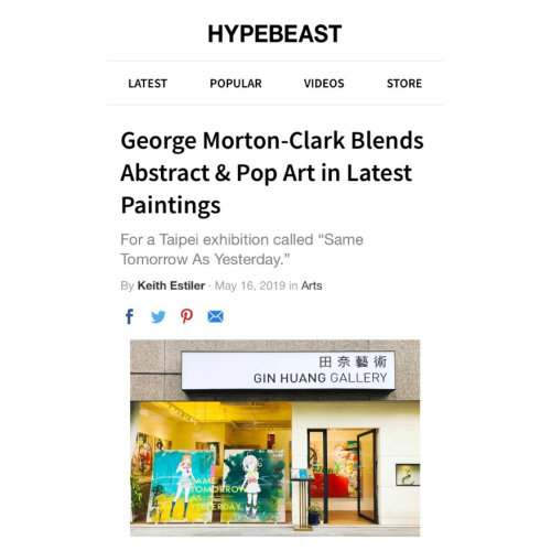 Hypebeast報導|George Morton-Clark Blends Abstract and Pop Art in Latest Paintings