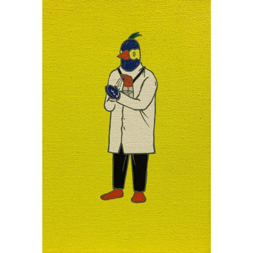 News|The artist Chang Teng-Yuan creates several humorous artworks about epidemic prevention work