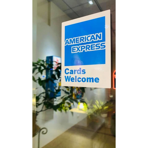 GIN HUANG Gallery accepts pay by American Express card! ! !