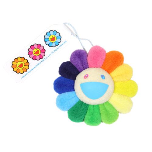 村上隆|花花別針鑰匙圈- 彩虹和白色