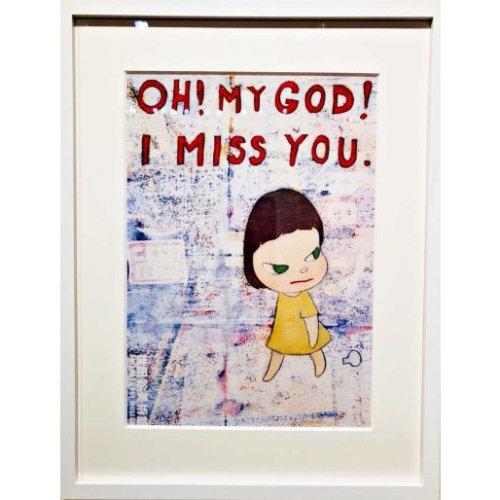 Yoshitomo Nara|OH! MY GOD! I MISS YOU Framed Poster