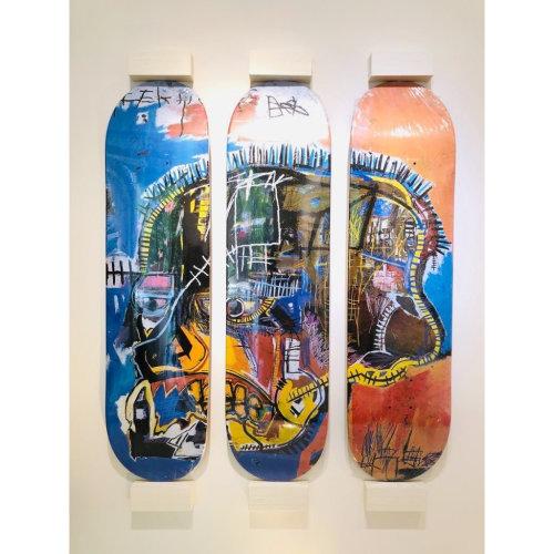 Jean-Michel Basquiat|Skateboard Triptych Skull
