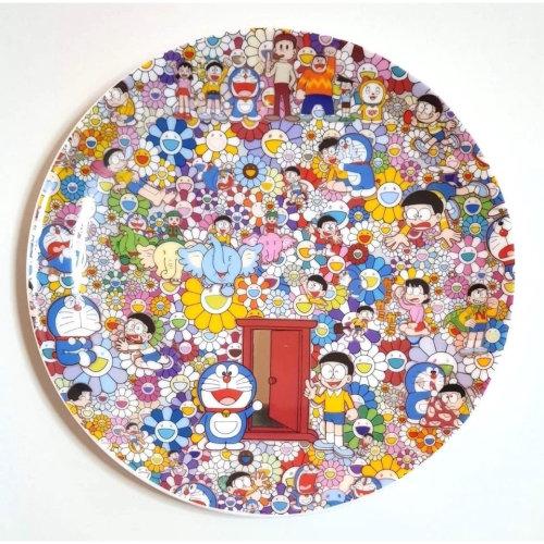 哆啦a夢 x 村上隆展場限定瓷盤
